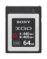 Sony QD-G64E XQD Kaart 64 GB 440 MB/s G-serie