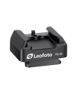Leofoto FA-15 + FA-10 Cold Shoe voet QR platform neigkop met snelkoppelingsplaatje