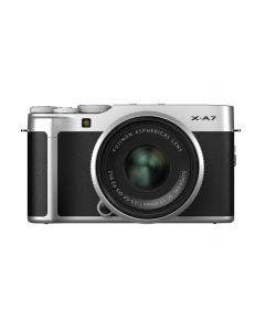 FUJIFILM X-A7 systeemcamera + 15-45mm Zilver