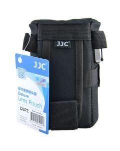 JJC DLP Deluxe 2 Lens Pouch Zwart