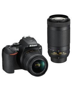 Nikon D3500 + AF-P 18-55mm + AF-P 70-300mm dubbel zoomkit