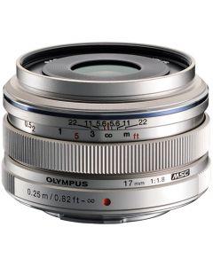 Olympus 17mm /1.8 M.Zuiko Micro Four Thirds Zilver
