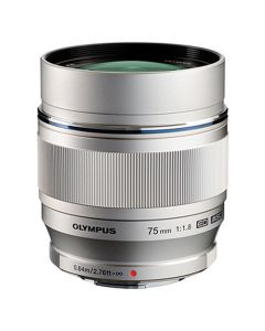 Olympus 75mm /1.8 M.Zuiko ED Micro Four Thirds Zilver