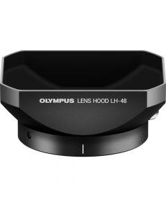 Olympus LH-48 Metalen Zonnekap Zwart (voor 12mm /2 MFT)