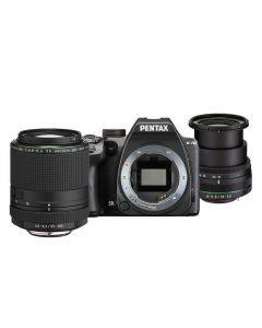 Pentax K-70 Zwart + 18-50mm + 55-300mm