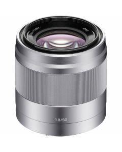 Sony E 50mm /1.8 OSS Zilver (SEL50F18S)